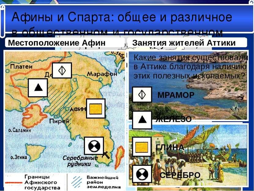 Афины и Спарта: общее и различное в общественном и государственном «Вся Греци...