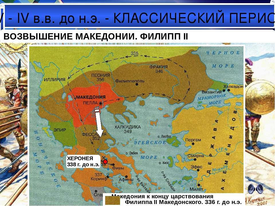 V - IV в.в. до н.э. - КЛАССИЧЕСКИЙ ПЕРИОД Предпосылки подчинения Греции Макед...