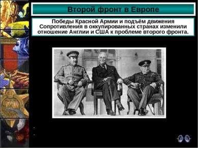 Второй фронт в Европе Победы Красной Армии и подъём движения Сопротивления в ...