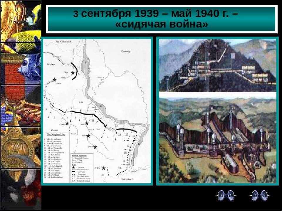 Французские укрепления на линии Мажино 3 сентября 1939 – май 1940 г. – «сидяч...