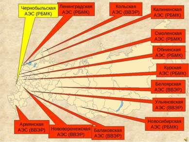 Обнинская АЭС (РБМК) ЛенинградскаяАЭС (РБМК) НовосибирскаяАЭС (РБМК) Курская ...