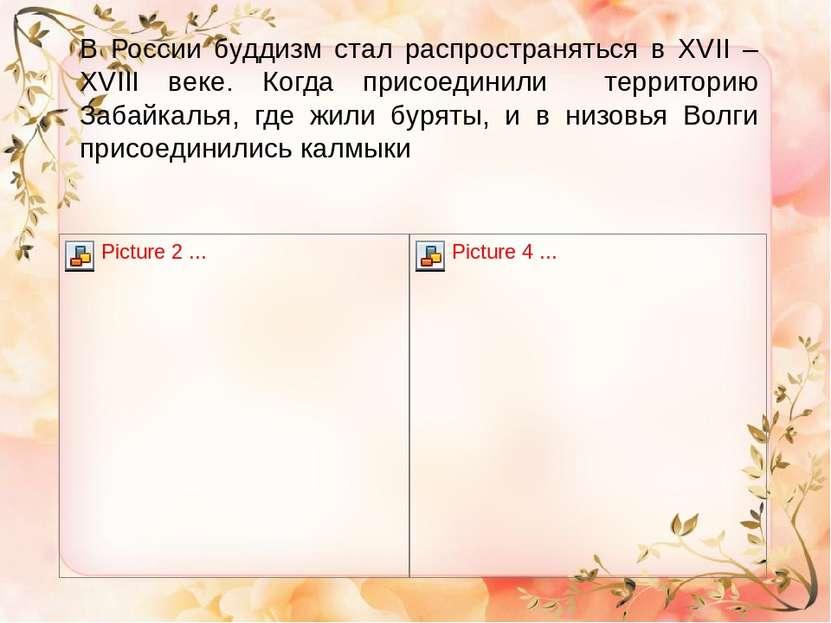 В России буддизм стал распространяться в XVII – XVIII веке. Когда присоединил...