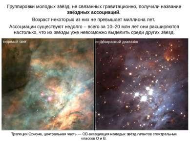 Группировки молодых звёзд, не связанных гравитационно, получили название звёз...