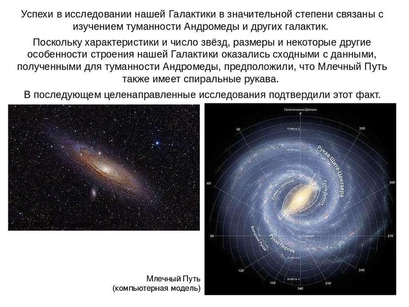 Веста Успехи в исследовании нашей Галактики в значительной степени связаны с ...