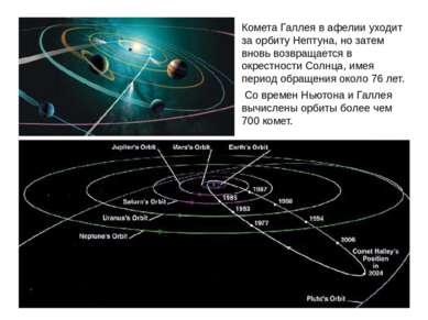 Комета Галлея в афелии уходит за орбиту Нептуна, но затем вновь возвращается ...