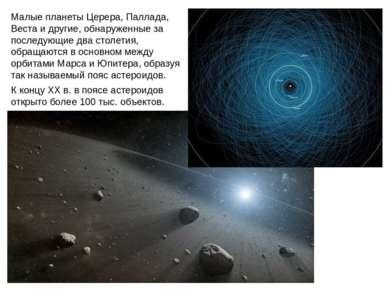 Малые планеты Церера, Паллада, Веста и другие, обнаруженные за последующие дв...