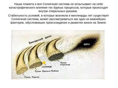 Наша планета и вся Солнечная система не испытывают на себе катастрофического ...
