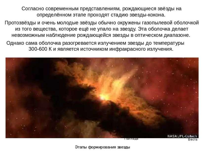 Веста Паллада Согласно современным представлениям, рождающиеся звёзды на опре...