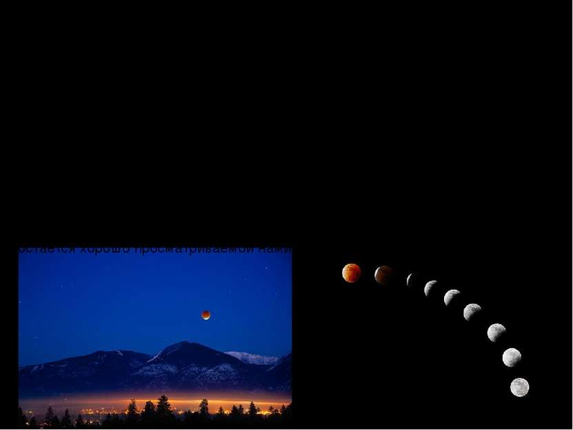 Лунное затмение - космическое явление, возникающее, когда Луна попадает в тен...