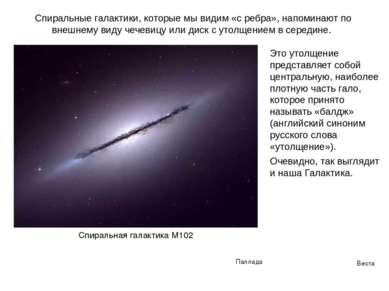 Веста Паллада Спиральные галактики, которые мы видим «с ребра», напоминают по...