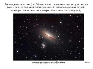 Веста Паллада Линзовидные галактики (тип S0) похожи на спиральные тем, что у ...