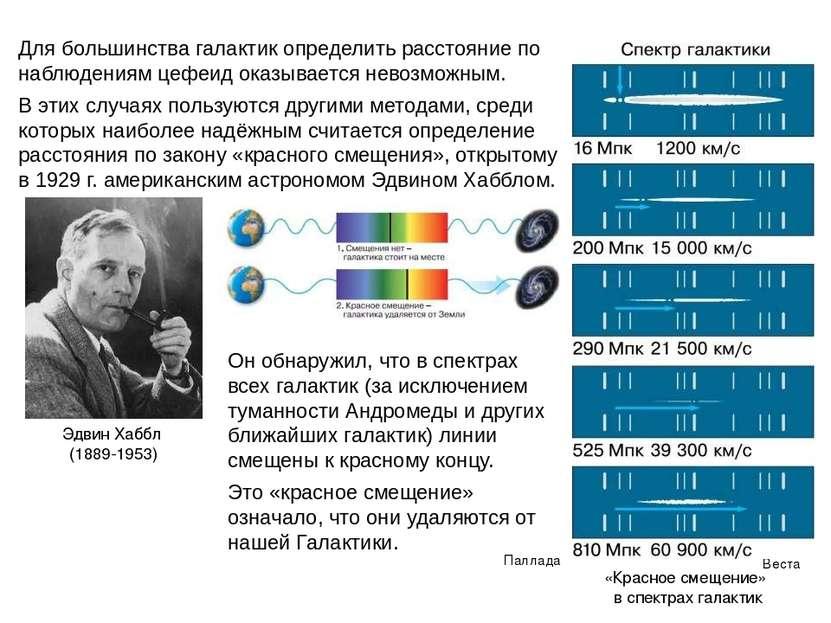 Для большинства галактик определить расстояние по наблюдениям цефеид оказывае...