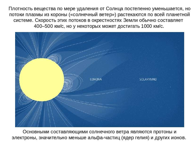 Плотность вещества по мере удаления от Солнца постепенно уменьшается, но пото...