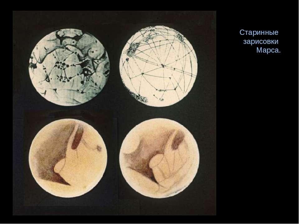 Старинные зарисовки Марса.