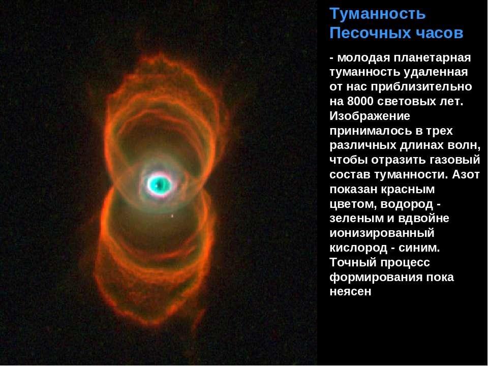 Туманность Песочных часов - молодая планетарная туманность удаленная от нас п...