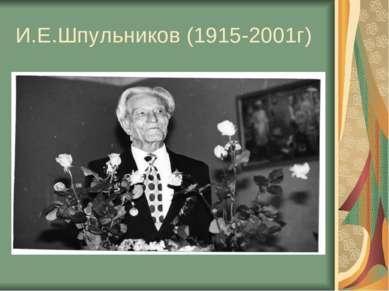И.Е.Шпульников (1915-2001г)
