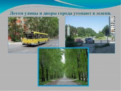 Летом улицы и дворы города утопают в зелени.