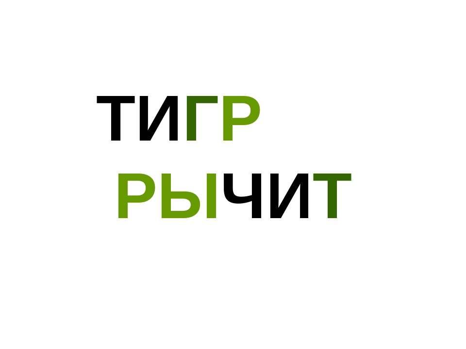 ТИГР РЫЧИТ