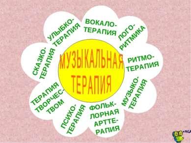 ЛОГО- РИТМИКА РИТМО- ТЕРАПИЯ МУЗЫКО- ТЕРАПИЯ УЛЫБКО- ТЕРАПИЯ ПСИХО- ТЕРАПИЯ Т...