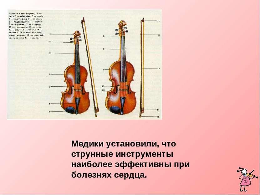 Медики установили, что струнные инструменты наиболее эффективны при болезнях ...