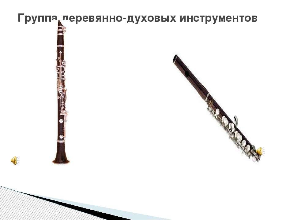 Группа деревянно-духовых инструментов кларнет флейта