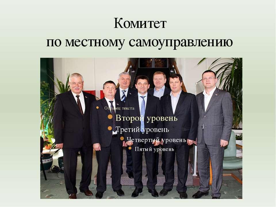 Комитет по местному самоуправлению