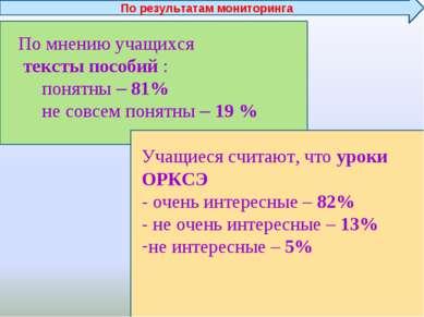 По мнению учащихся тексты пособий : понятны – 81% не совсем понятны – 19 % Уч...
