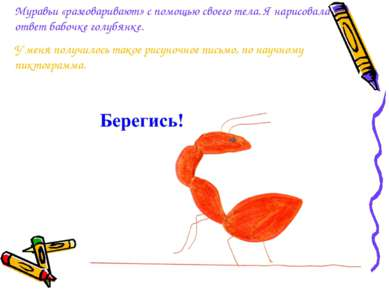 Муравьи «разговаривают» с помощью своего тела. Янарисовала ответ бабочке гол...