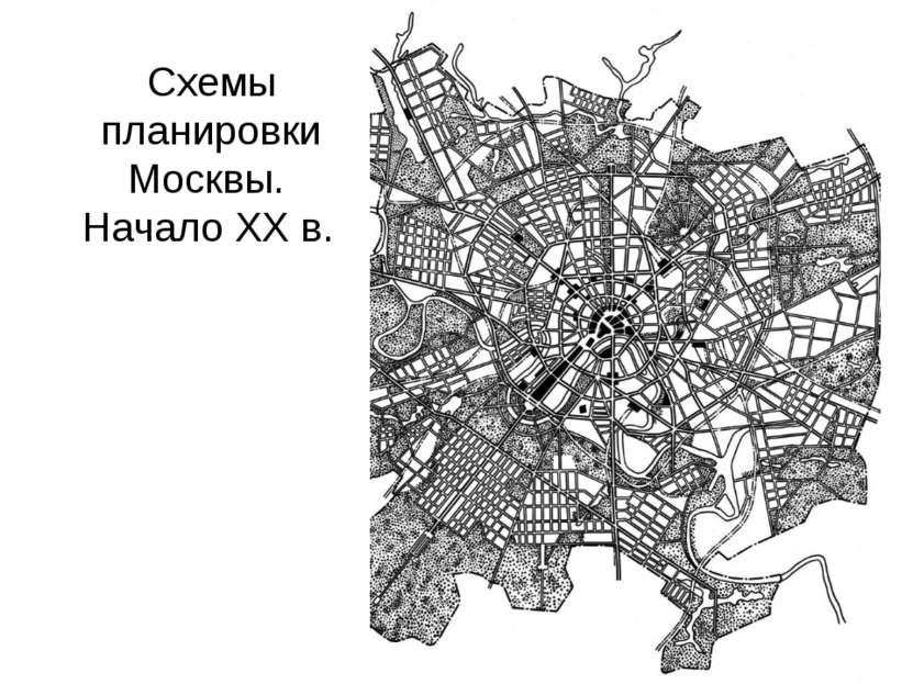 Схемы планировки Москвы. Начало XX в.