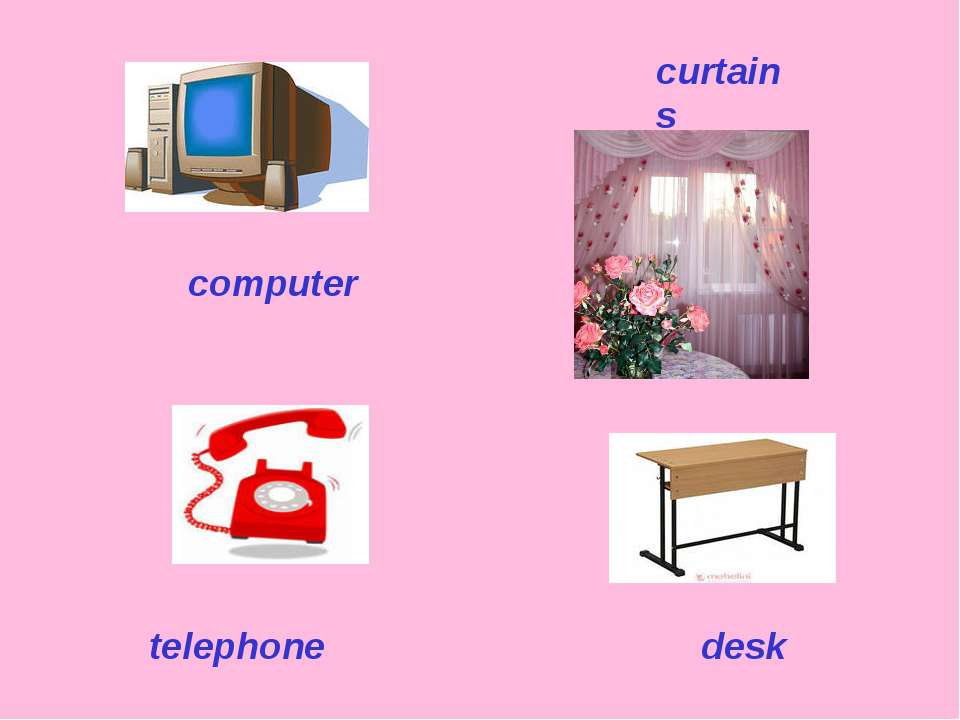 computer telephone desk curtains