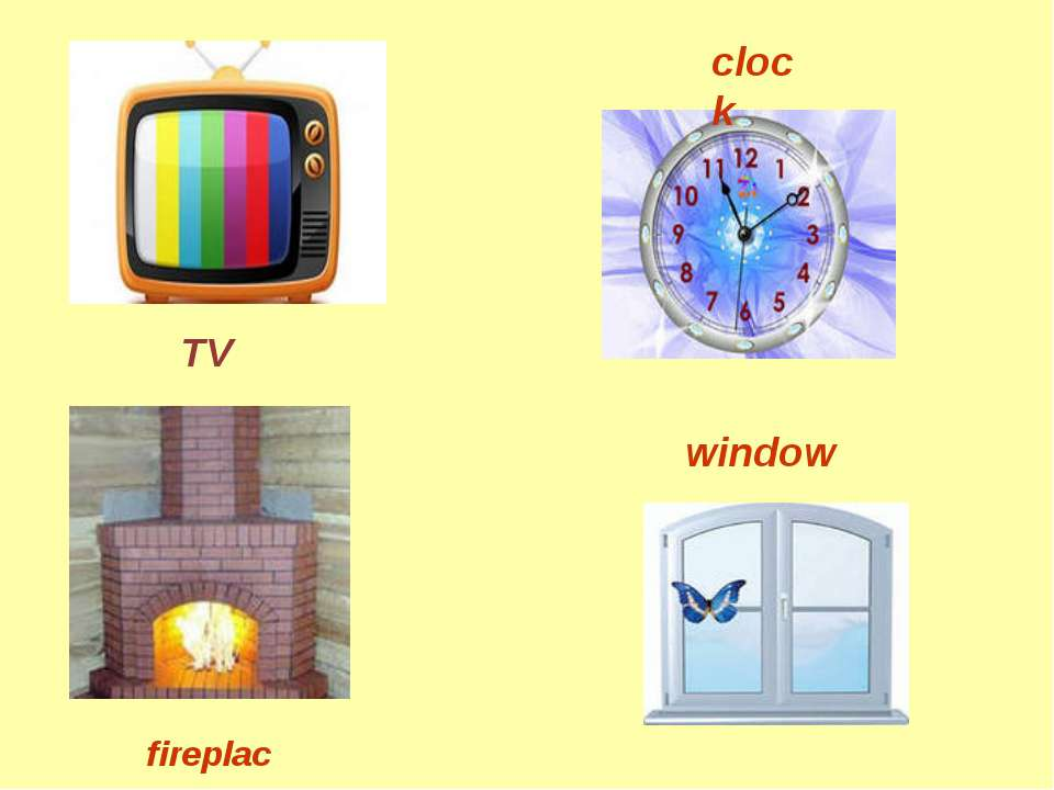 TV clock fireplace window