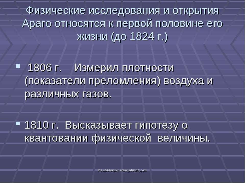 1806 г. Измерил плотности (показатели преломления) воздуха и различных газов....