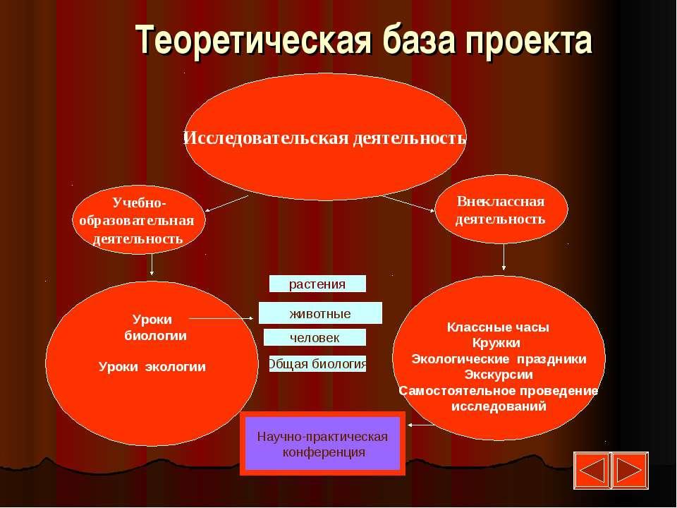 Исследовательская деятельность Учебно- образовательная деятельность Внеклассн...