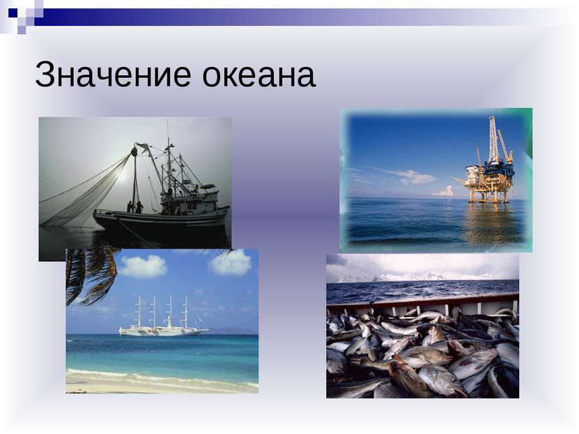 Значение океана