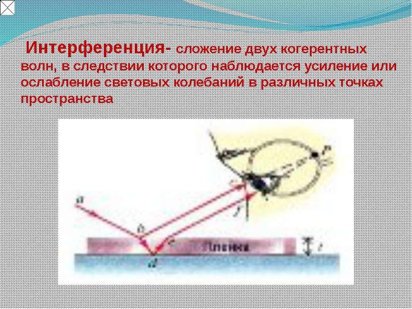 Глава 3. Оптика Модель3.9. Кольца Ньютона  Интерференционная карт...