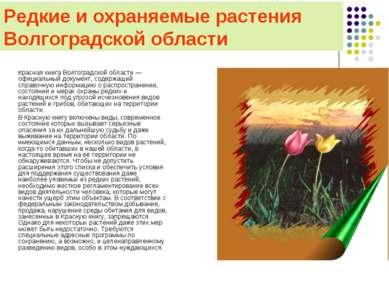 Редкие и охраняемые растения Волгоградской области Красная книга Волгоградско...