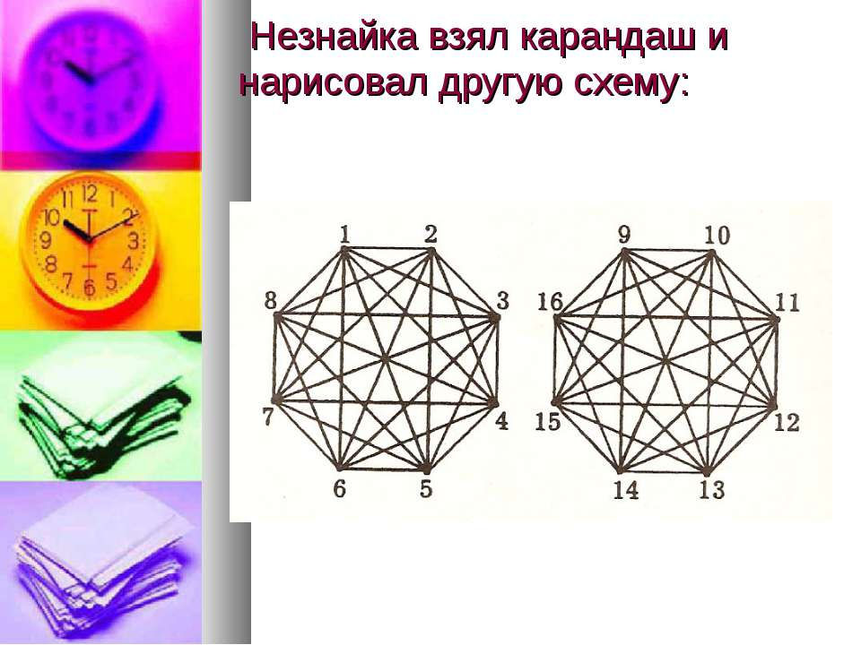 Незнайка взял карандаш и нарисовал другую схему: