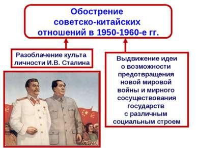Обострение советско-китайских отношений в 1950-1960-е гг. Разоблачение культа...