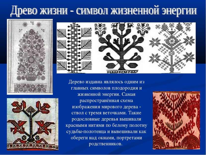 Дерево издавна являлось одним из главных символов плодородия и жизненной энер...