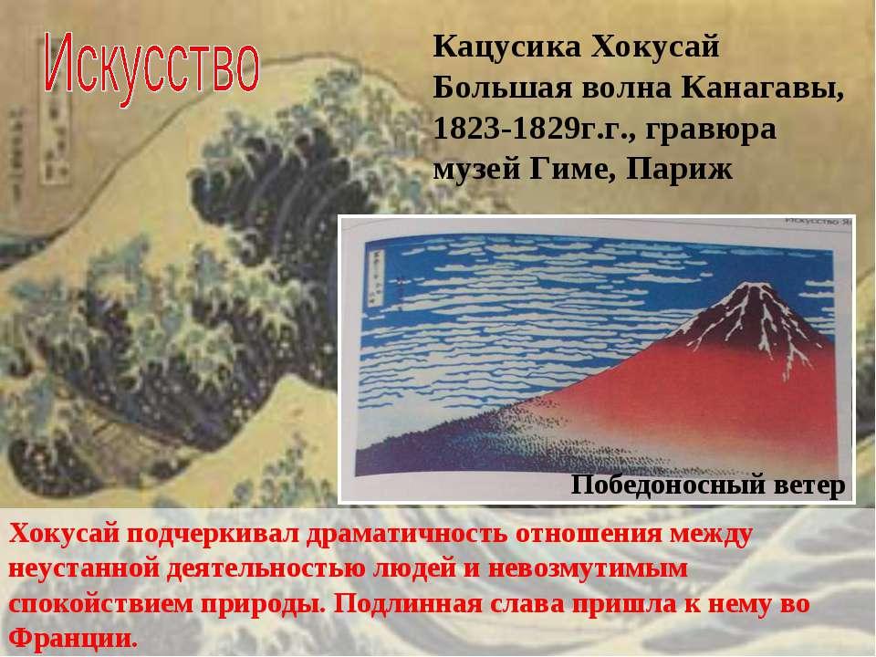 Кацусика Хокусай Большая волна Канагавы, 1823-1829г.г., гравюра музей Гиме, П...