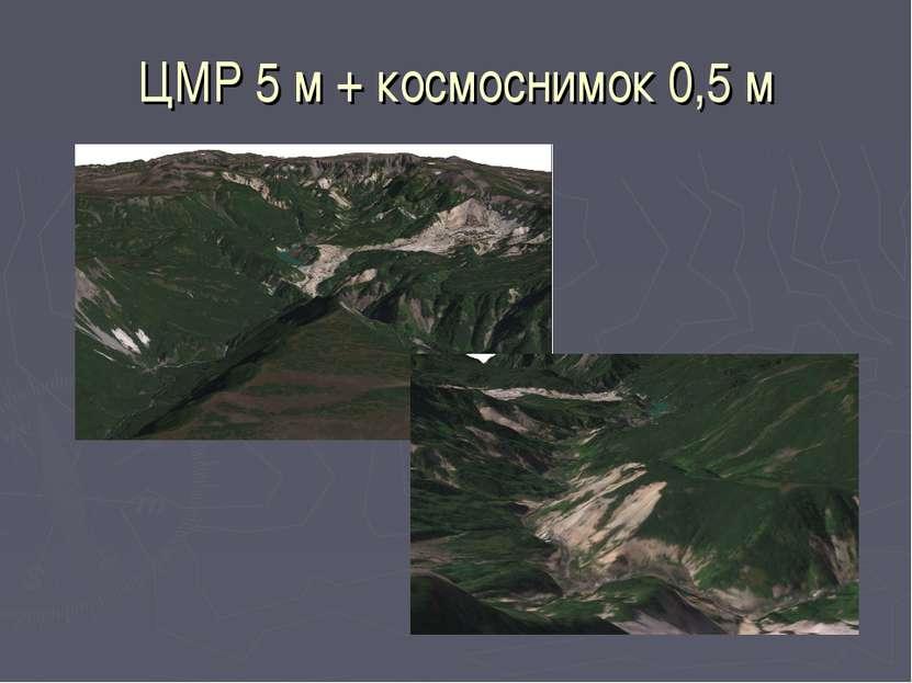 ЦМР 5 м + космоснимок 0,5 м