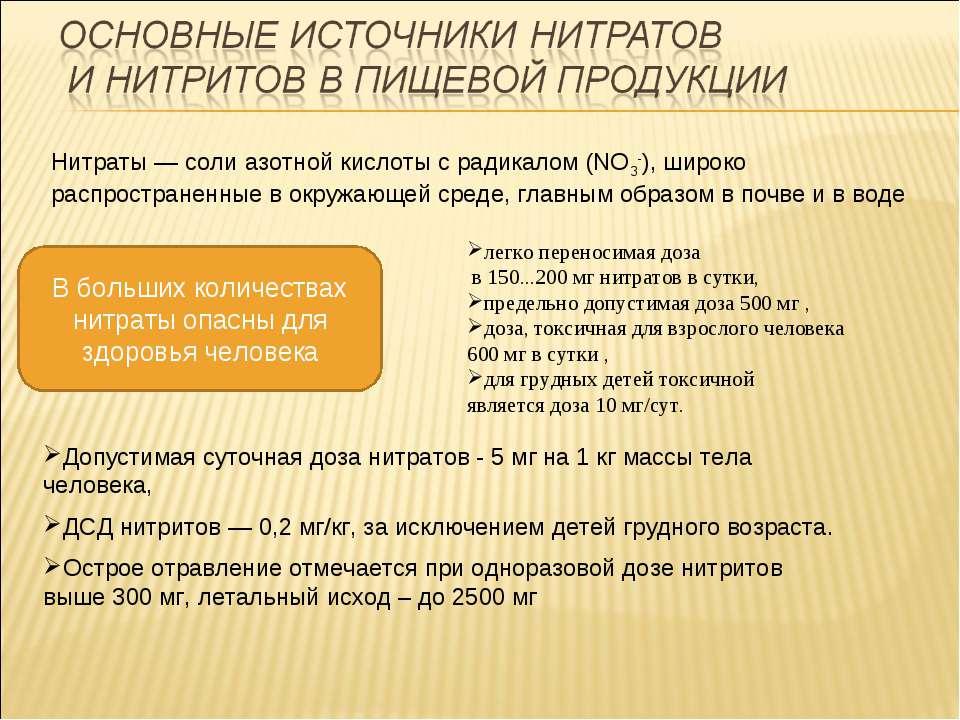 Нитраты — соли азотной кислоты с радикалом (NO3-), широко распространенные в ...
