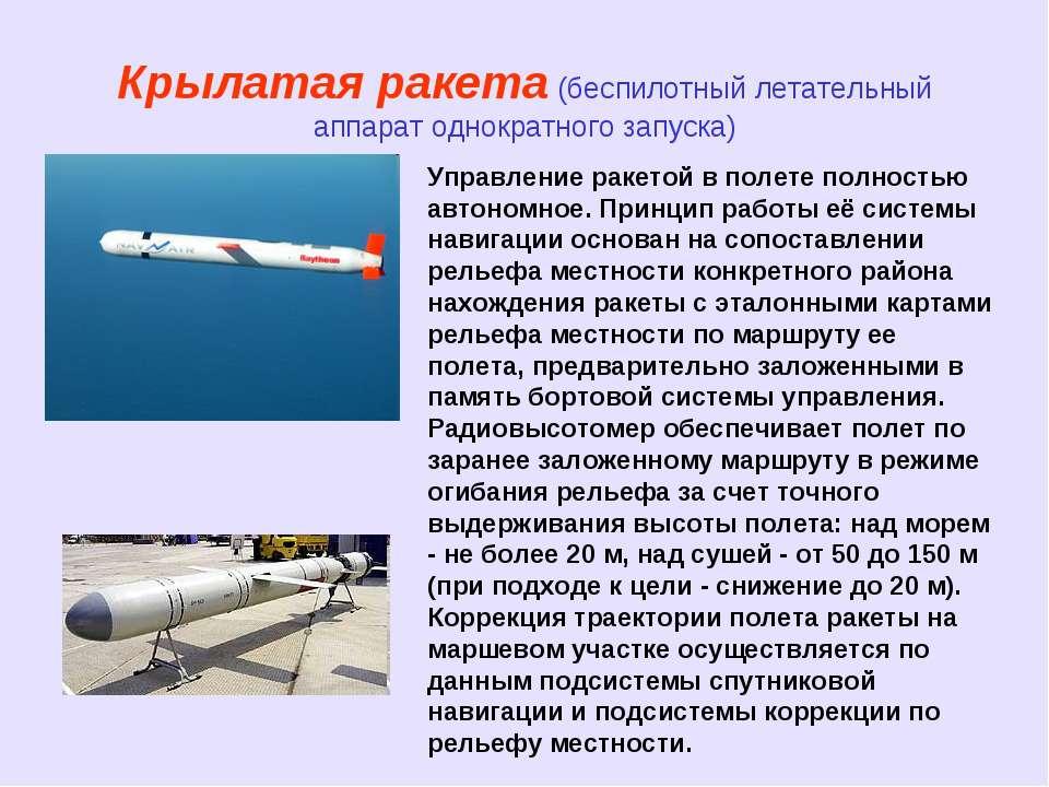 Крылатая ракета (беспилотный летательный аппарат однократного запуска) Управл...