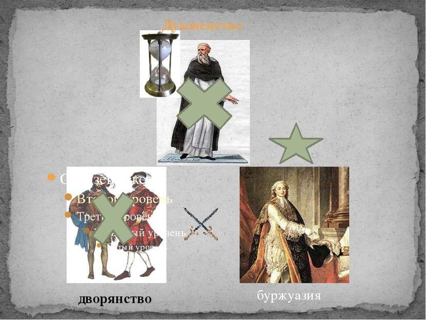дворянство буржуазия Духовенство