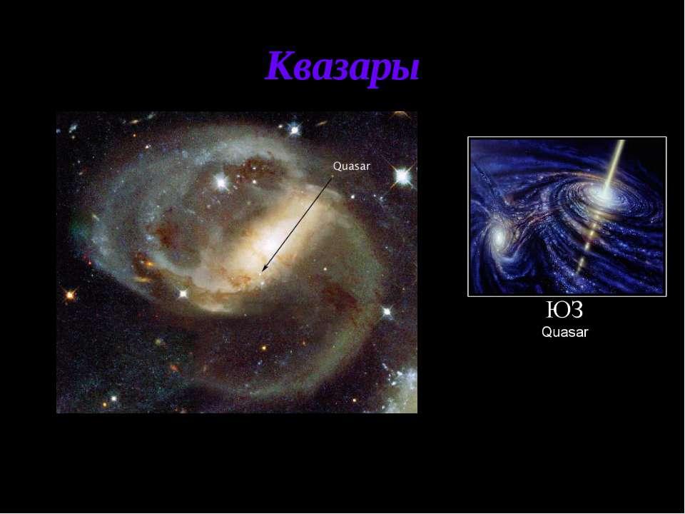 Квазары Квазары - класс наиболее удивительных и загадочных астрономических об...