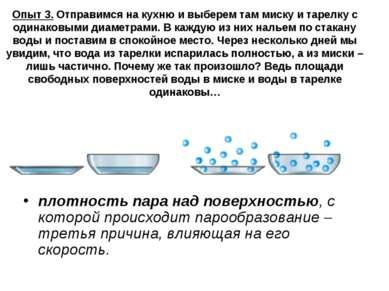 Опыт 3. Отправимся на кухню и выберем там миску и тарелку с одинаковыми диаме...