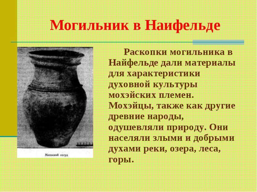 Могильник в Наифельде Раскопки могильника в Найфельде дали материалы для хара...