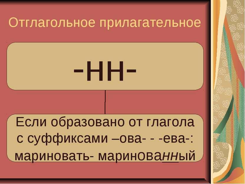 Отглагольное прилагательное