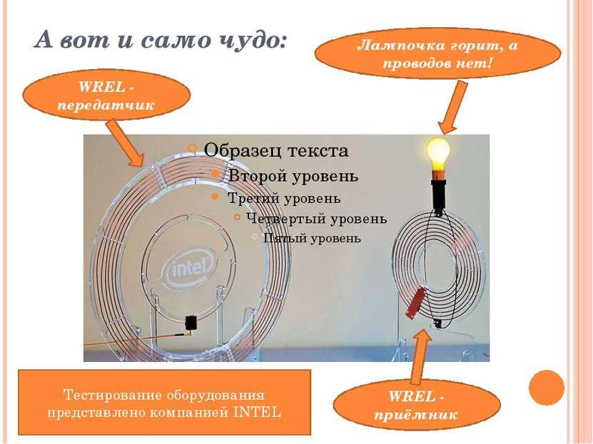 А вот и само чудо: WREL - передатчик WREL - приёмник Тестирование оборудовани...