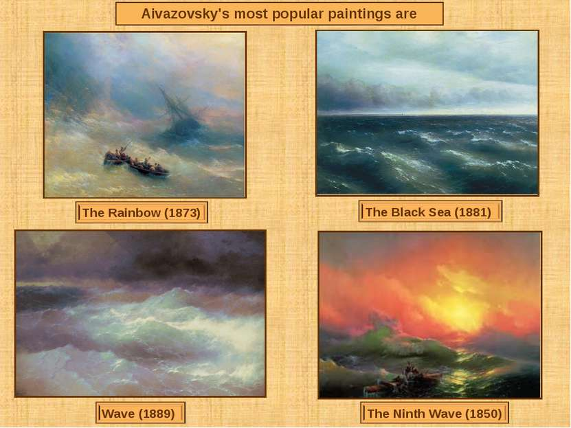 Aivazovsky's most popular paintings are